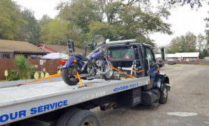 motorcycle towing by autoworks towing and recovery